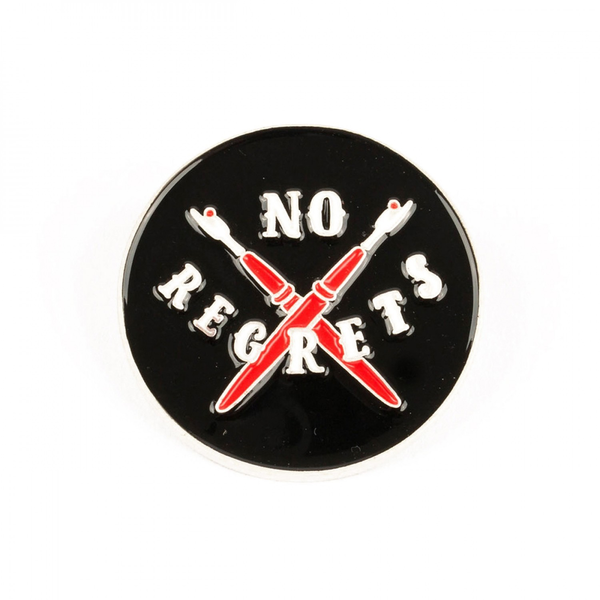 No Regrets Enamel Pin