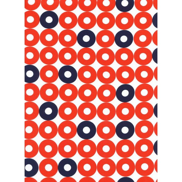 Cotton + Steel Ring Rings in Red/Navy Rayon