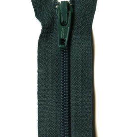 "YKK 14"" Zipper in Dark Green"