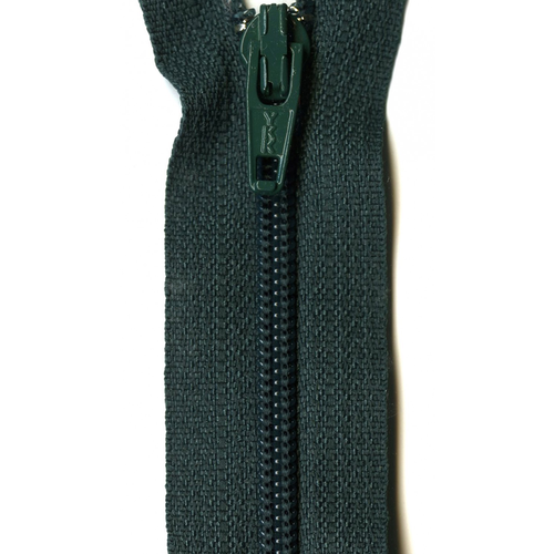 "YKK 14"" Zipper in Dark Green"