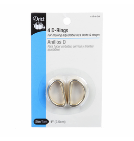 """Dritz 1"""" D-Rings in Gold"""