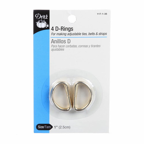 "Dritz 1"" D-Rings in Gold"