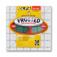 "Olfa 6-1/2"" Square Frosted Ruler"