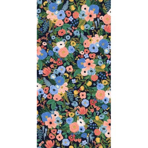 Cotton + Steel Petite Garden Party in Navy Rayon