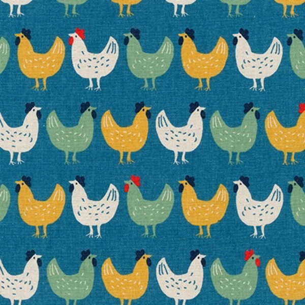 Sevenberry Chickens in Blue