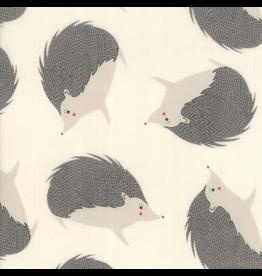"Moda Hedgehogs 60"" Double Gauze in Cream"