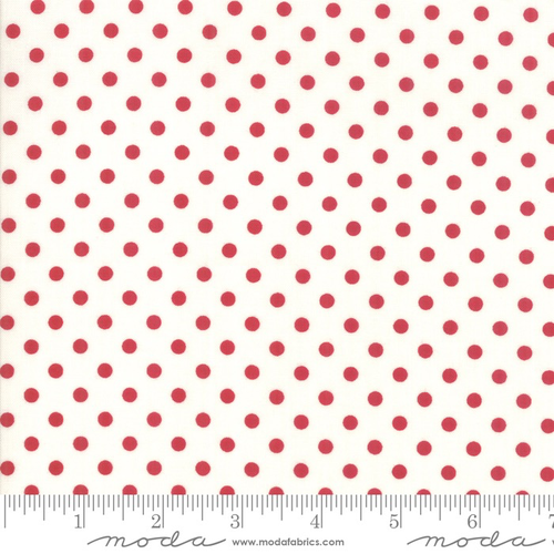 Moda Berry Dots in Cream/Red