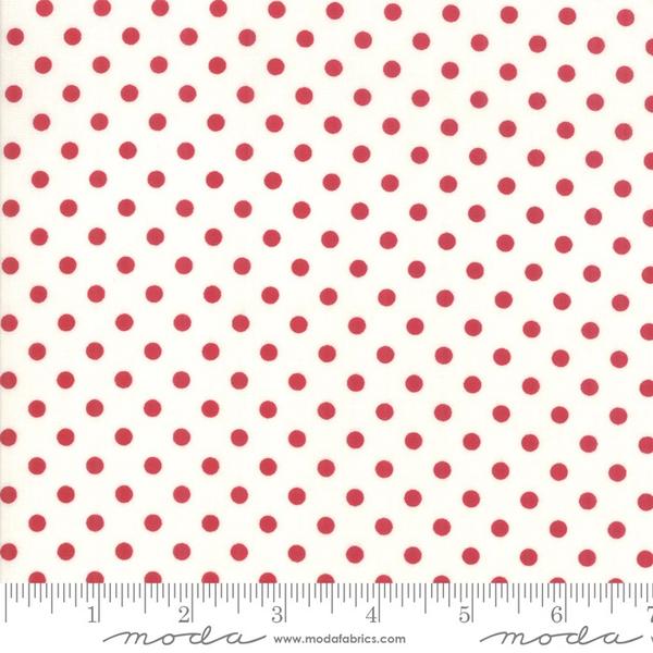 Moda Berry Dots in Cream