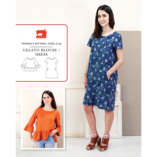 Liesl + Co. Gelato Blouse & Dress Pattern