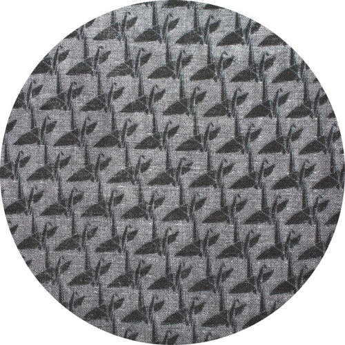 Kokka Small Cranes in Charcoal Double Gauze