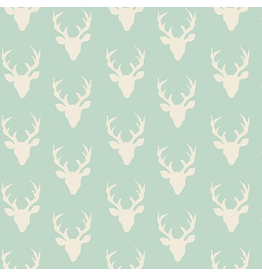 Art Gallery Tiny Buck Forest in Mint