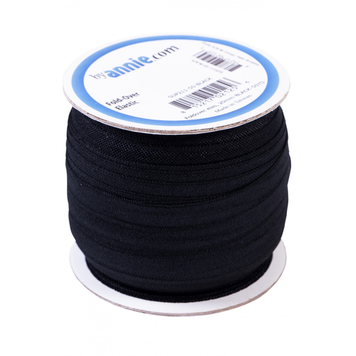 By Annie Fold-over Elastic in Black