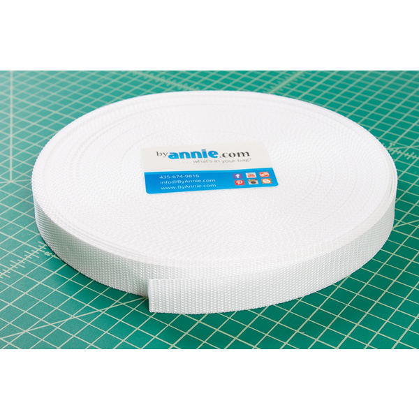 "By Annie Polypro Strapping 1"" White"