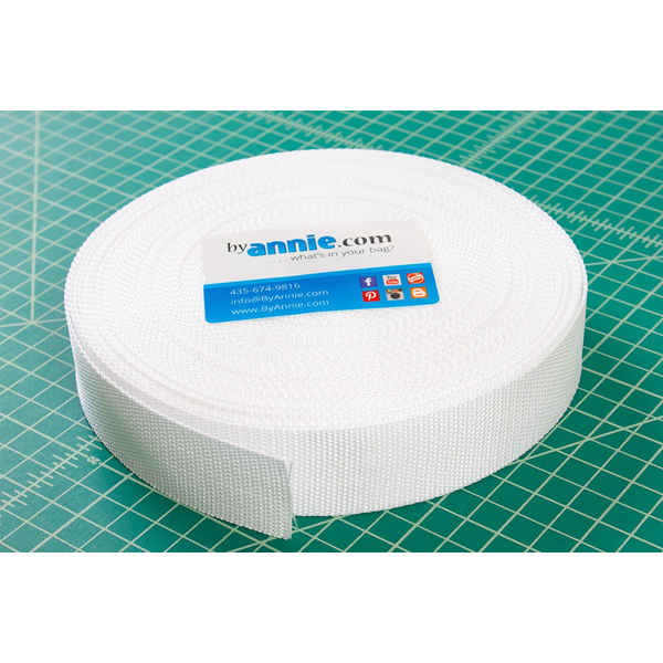 "By Annie Polypro Strapping 1-1/2"" White"