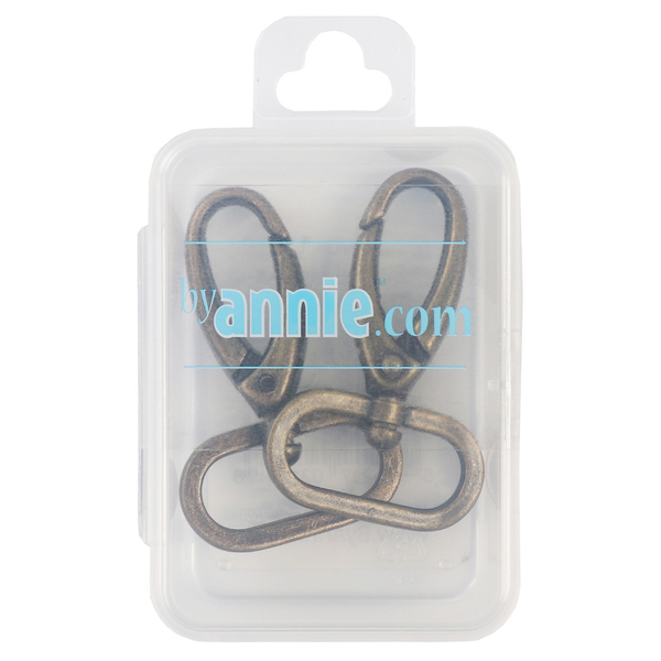 "By Annie Swivel Hook 1"" Antique Brass 2ct"