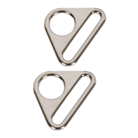 "By Annie Triangle Ring Flat 1"" Nickel 2ct"