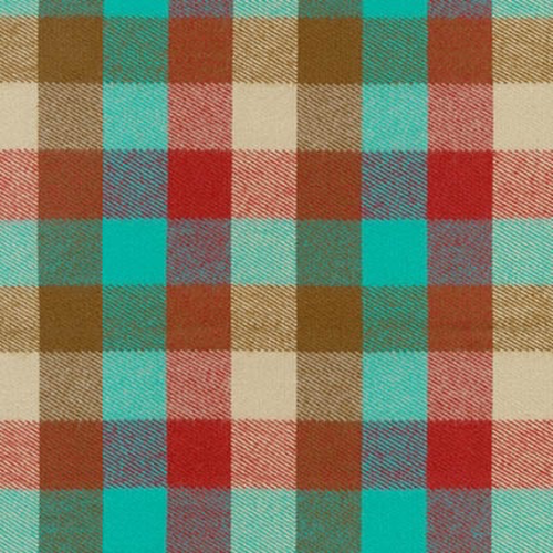 Robert Kaufman Durango Flannel Check in Teal