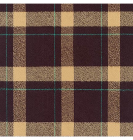 Robert Kaufman Mammoth Flannel Plaid in Brown