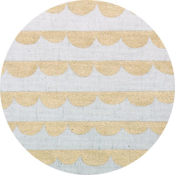Kokka SALE Half Round Linen Canvas in Gold Metallic
