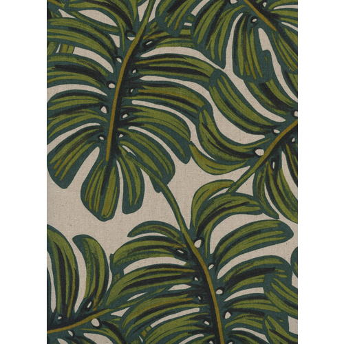 Cotton + Steel Monstera Canvas in Natural