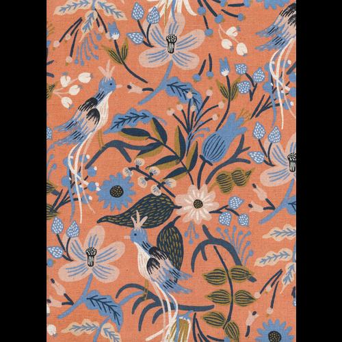 Cotton + Steel Folk Birds Canvas in Peach
