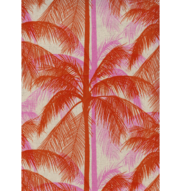 Cotton + Steel Palms Canvas in Pink