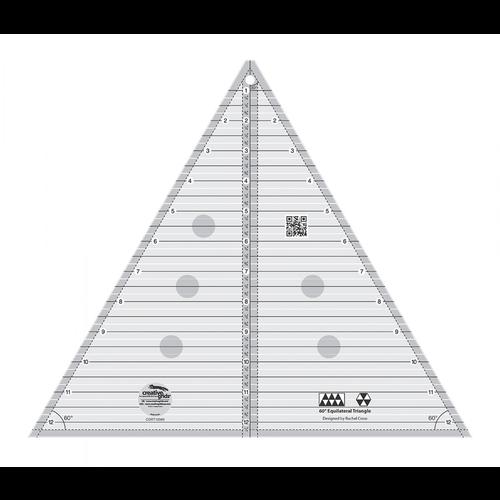 "Creative Grids 60 Degree Triangle Ruler 12-1/2"""