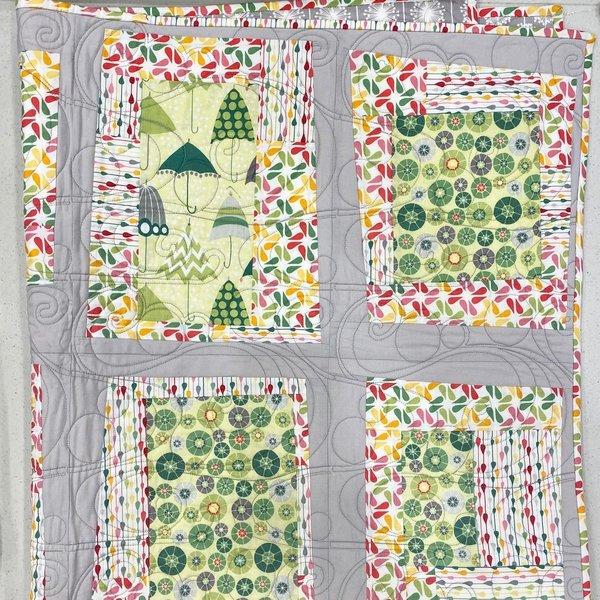 "SAMPLE SALE - Rainy Day Quilt - 42"" x 53"""