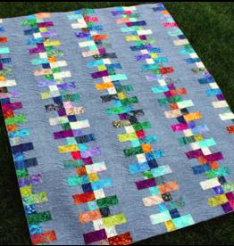 """SAMPLE SALE - Linen & Batik Quilt - 53"""" x 67"""""""