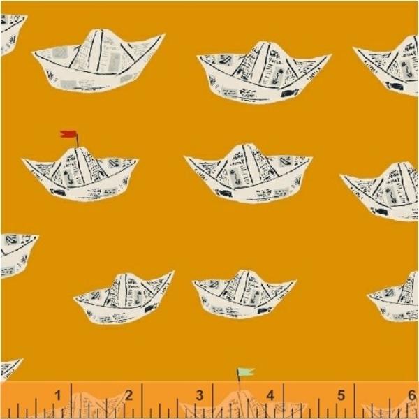 Windham Newspaper Boats in Orange