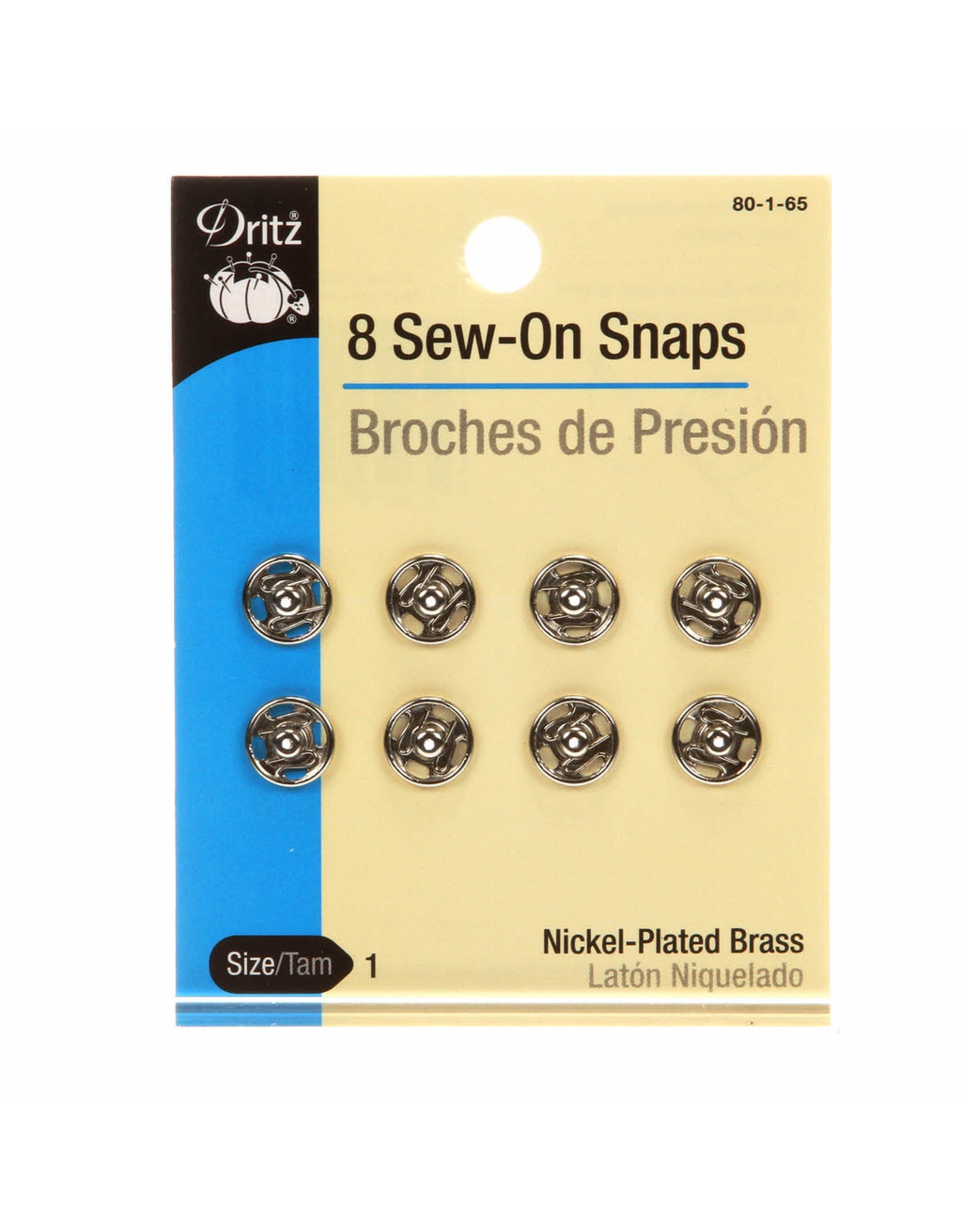 Sew-On Snaps Nickel Size 1/0