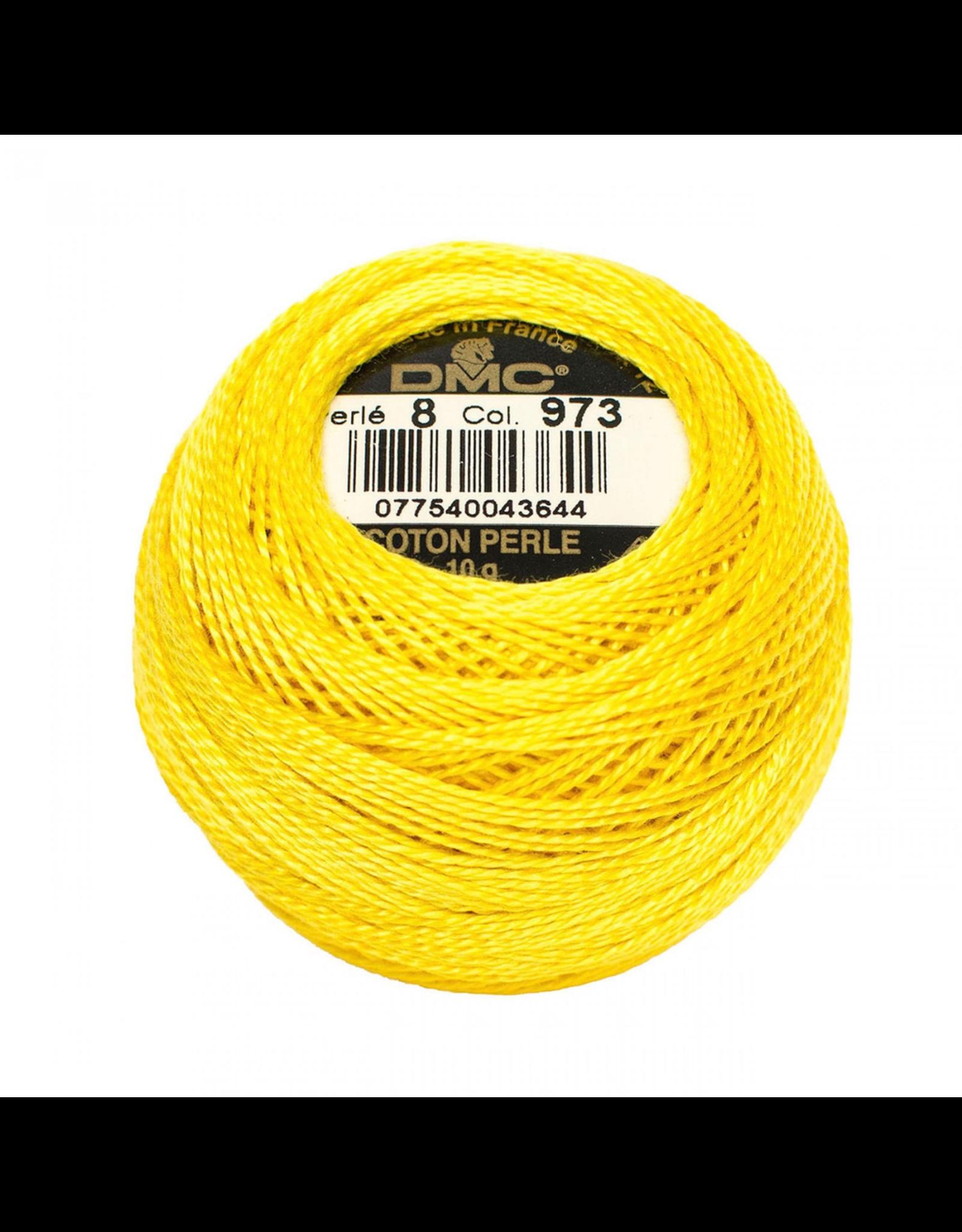 DMC Pearl Cotton Ball Size 8 in Bright Canary