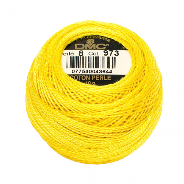 DMC Pearl Cotton Ball Size 8 in Bright Canary