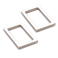 "By Annie Rectangle Rings Flat 1"" Nickel 2ct"