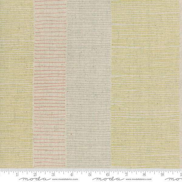 Fine Lines Mochi Linen in Flax/Gold