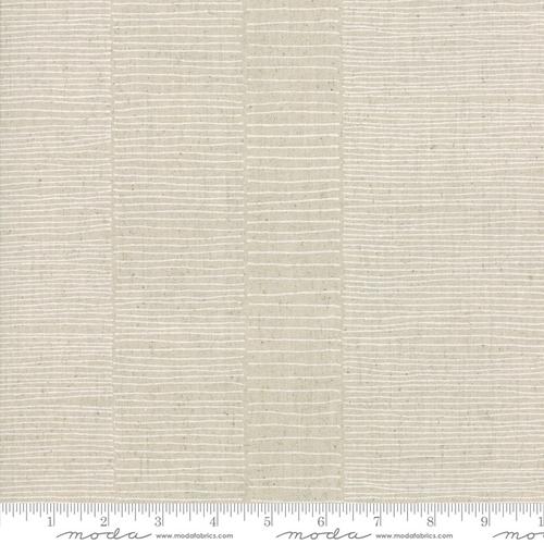 Fine Lines Mochi Linen in Flax/White