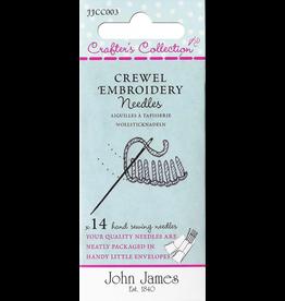 John James Crewel Embroidery Needles Assortement