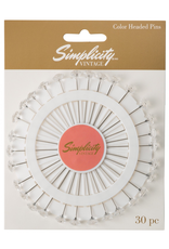 Simplicity Clear Rhinestone Pins