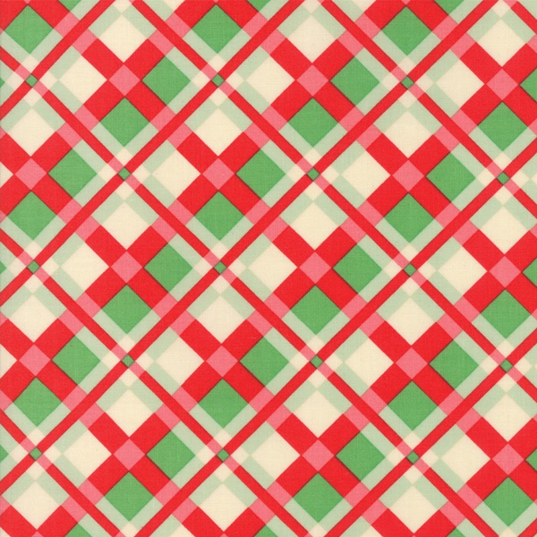 Moda Plaid in Red/Green PVC Coated