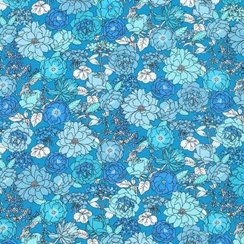 Robert Kaufman Roses in Blue Jay Lawn