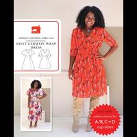 Liesl + Co. San-Germain Wrap Dress Pattern