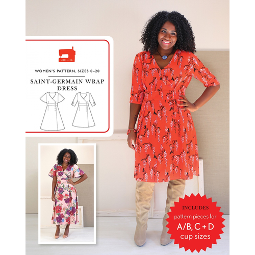 Liesl + Co. San-Germain Wrap Dress Pattern