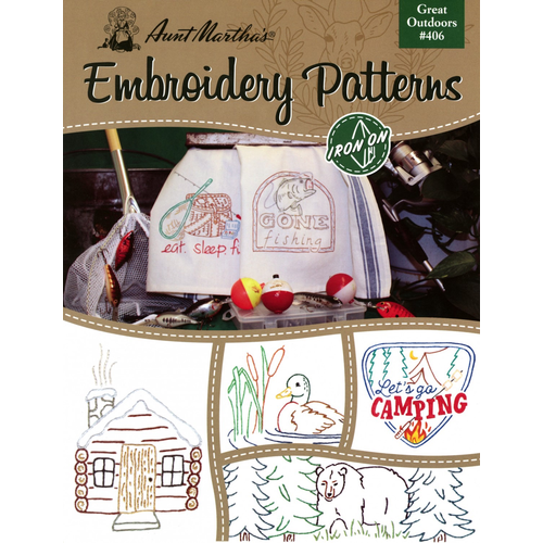 Aunt Martha's Aunt Martha's Great Outdoors Embroidery Patterns