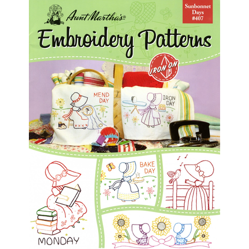 Aunt Martha's Aunt Martha's Sunbonnet Days Embroidery Patterns