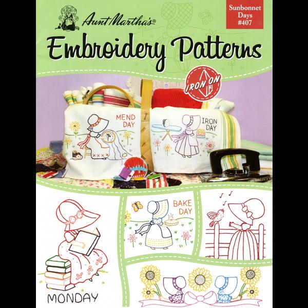 Aunt Martha's Aunt Martha's Sunbonnet Days Embroidery Patterns