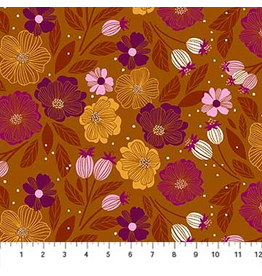 Figo Flowers in Ochre Multi