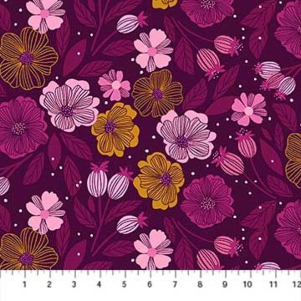 Figo Flowers in Purple Multi