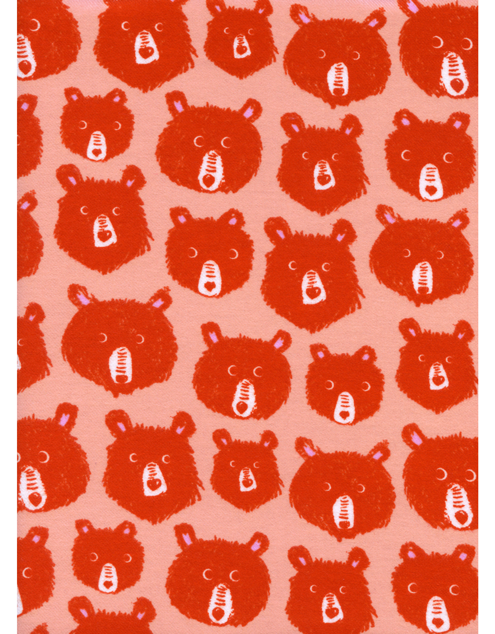 Cotton + Steel Teddy and the Bears in Pink Flannel
