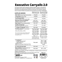 By Annie Executive Carryalls 2.0 Pattern