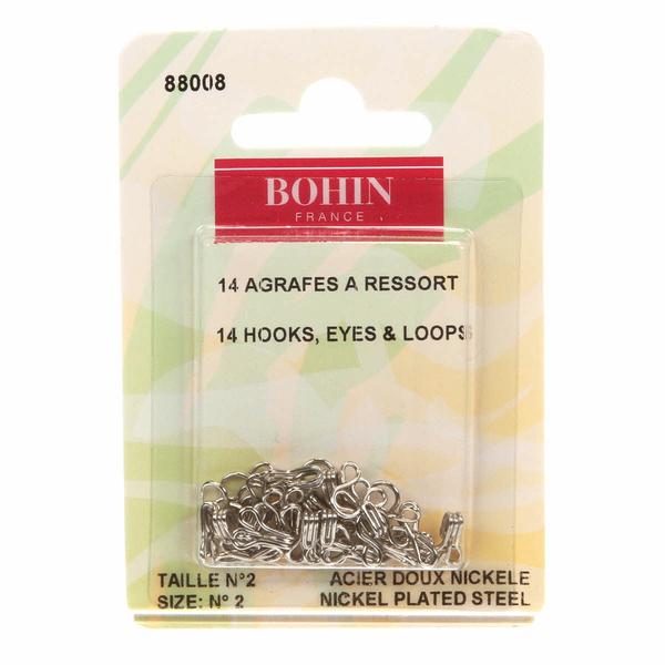 Bohin France Hooks & Eyes Size 2